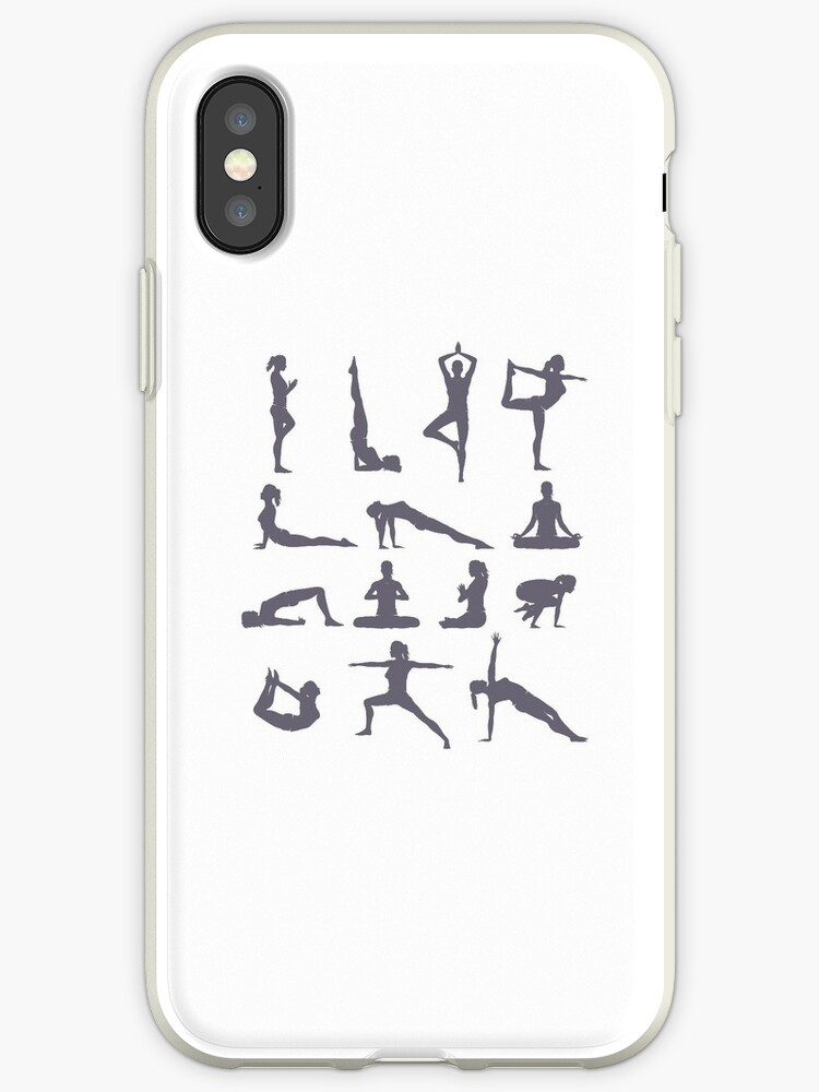 'Yoga Poses and Postures' iPhone Case by merkraht
