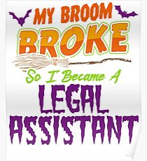 Legal assistant Haloween funnyshirt Poster
