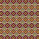 Aztec Mayan Inca Pattern 17- Native American by Cveta