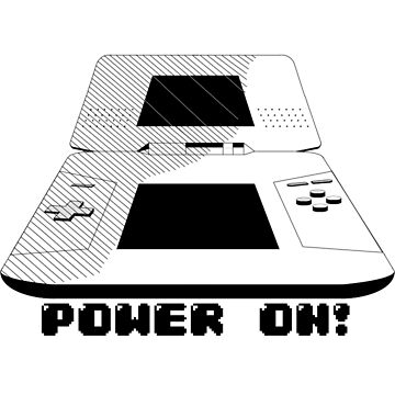 Power On! DS Gaming (Black & White Graphic) by RyanSilberman