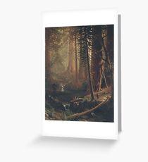 Giant Redwood Trees of California by Albert Bierstadt Greeting Card