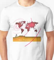 San Francisco in the world Unisex T-Shirt