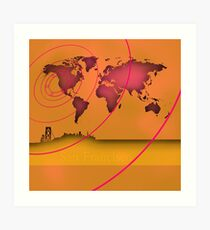San Francisco in the world Art Print