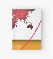 San Francisco in the world Hardcover Journal