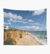 Clifftop Restaurant with a View in Algarve Portugal Wall Tapestry