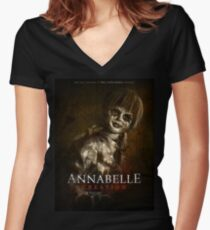 Annabelle creation Women's Fitted V-Neck T-Shirt