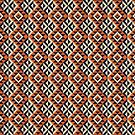 Aztec Mayan Inca Pattern 16- Native American by Cveta