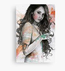 Lienzo You Lied (retrato femenino erótico, chica desnuda con tatuajes de mandala mehndi)