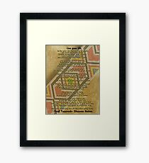 Live your life, Chief Tecumseh beads on parchment Framed Print