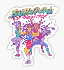 Survival Of The Fittest Sticker