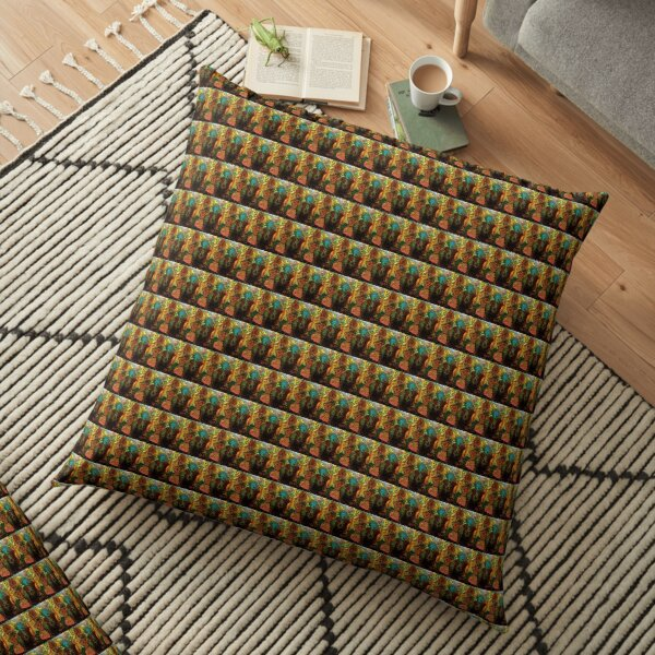 Sitting On The Brink. But We're Not Over Yet Floor Pillow