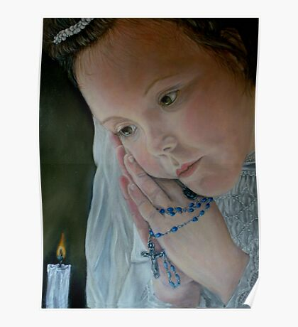 'Prayer' - Oil Painting Poster