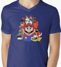 Captured Comrades - Super Mario Odyssey  Men's V-Neck T-Shirt