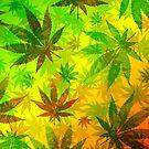 Marijuana Leaves Nature Pattern by BluedarkArt