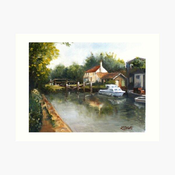 The Lock Keeper's Cottage Art Print