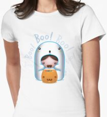 Kami Ghost Boo! Women's Fitted T-Shirt