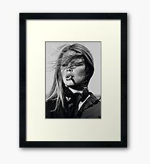 Brigitte Bardot black & white photography Framed Print