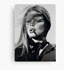Brigitte Bardot black & white photography Canvas Print