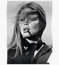 Brigitte Bardot Schwarz-Weiß-Fotografie Poster