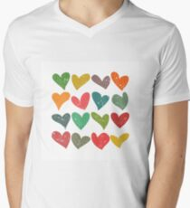 Hearts grunge pattern, colorful illustration T-Shirt