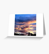 Orange and Blue and some Clouds too Greeting Card