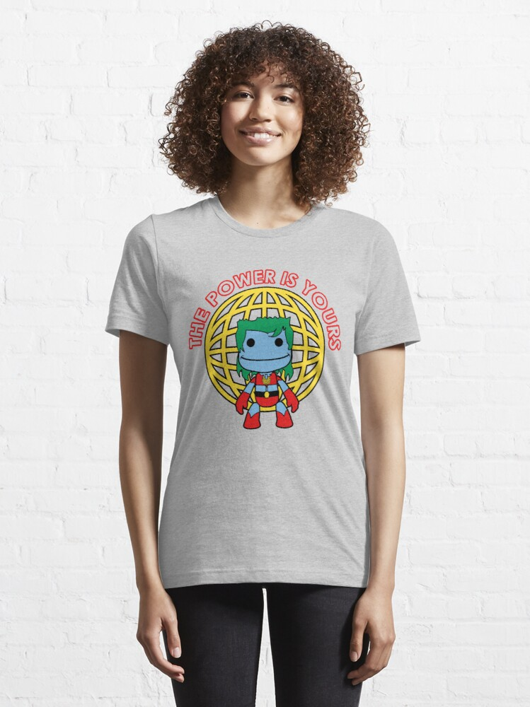 Alternate view of Captain Little Big Planet - Multiple Colors - Red Text Essential T-Shirt