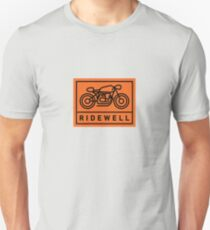 RIDEWELL Logo - Black on Orange T-Shirt