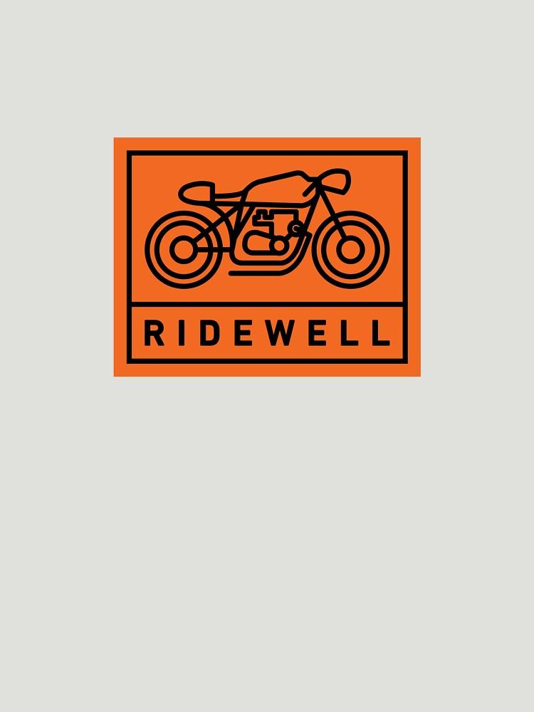 RIDEWELL Logo - Black on Orange by ridewell