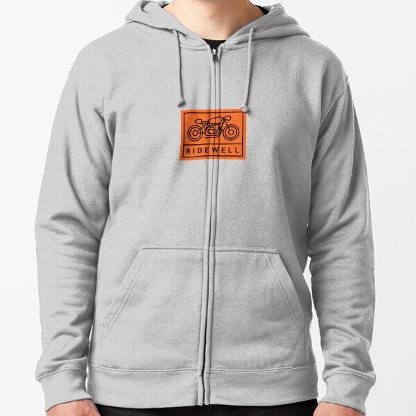 RIDEWELL Logo - Black on Orange Zipped Hoodie