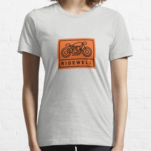 RIDEWELL Logo - Black on Orange Essential T-Shirt