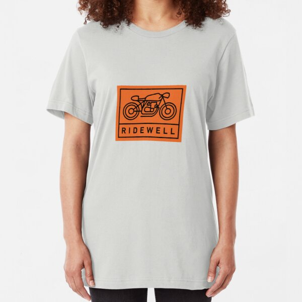RIDEWELL Logo - Black on Orange Slim Fit T-Shirt