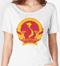 Emblem of the Provisional Revolutionary Government of the Republic of South Vietnam (1969 - 1976) Women's Relaxed Fit T-Shirt