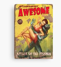 Astoundingly Awesome Tales: Attack of The Fishmen Fallout 4 Poster  Canvas Print