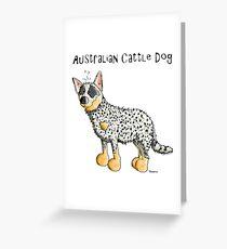 Cute Australian Cattle Dog - Dogs - Comic - Gift Greeting Card