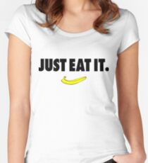 Nike Parody - Just Eat It Women's Fitted Scoop T-Shirt