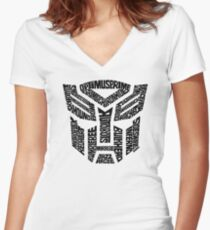 Transformers Autobots Women's Fitted V-Neck T-Shirt