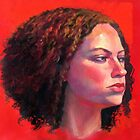 Portrait of Julia on Red by Roz McQuillan