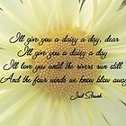 I'll Give You A Daisy A Day Dear by Leslie Montgomery