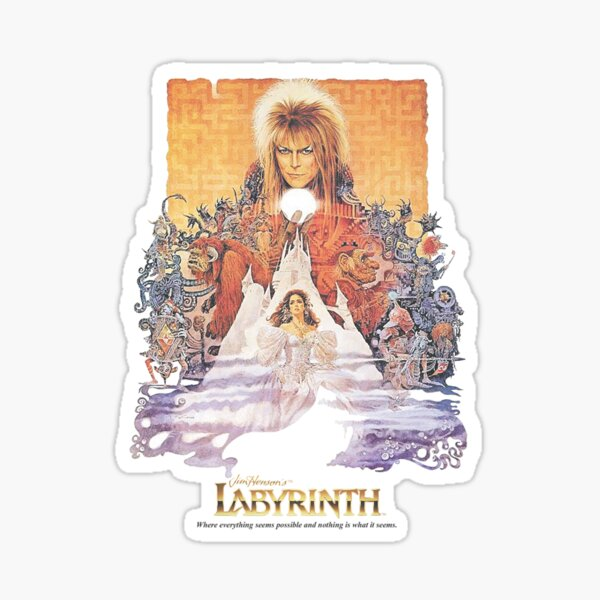 Labyrinth 1986 Sticker