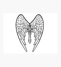 Inktober Artwork Day 6: Sword (Angel Wings) Photographic Print