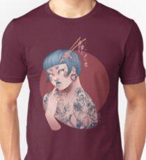 Blue Willow Tattoo Girl Unisex T-Shirt