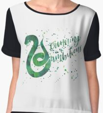 House Snake Cunning and Ambitious Watercolor Women's Chiffon Top