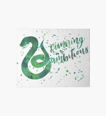 Haus-Schlangen-schlaues und ehrgeiziges Aquarell Galeriedruck