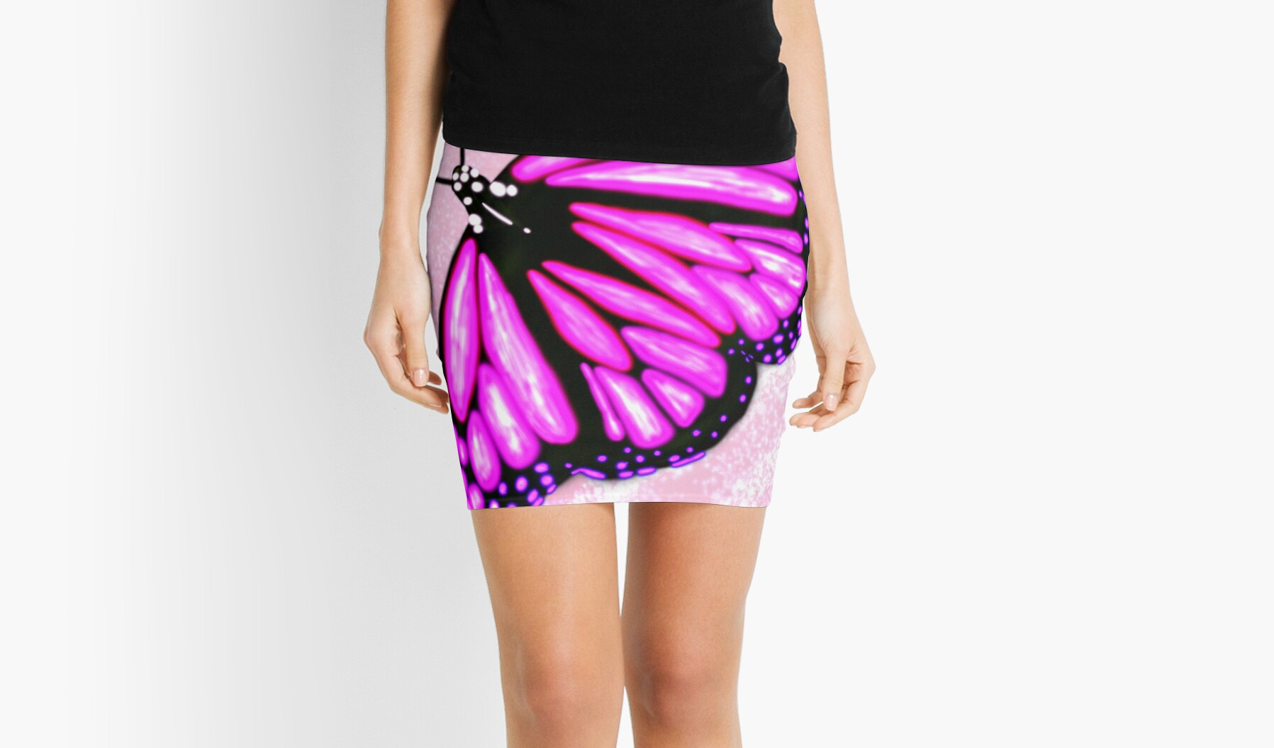 Pink sparkly butterfly