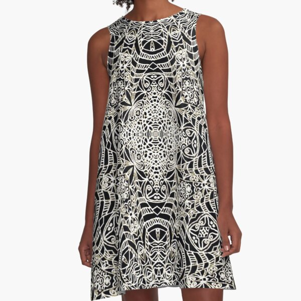 Mehndi Ethnic Style G419 A-Line Dress