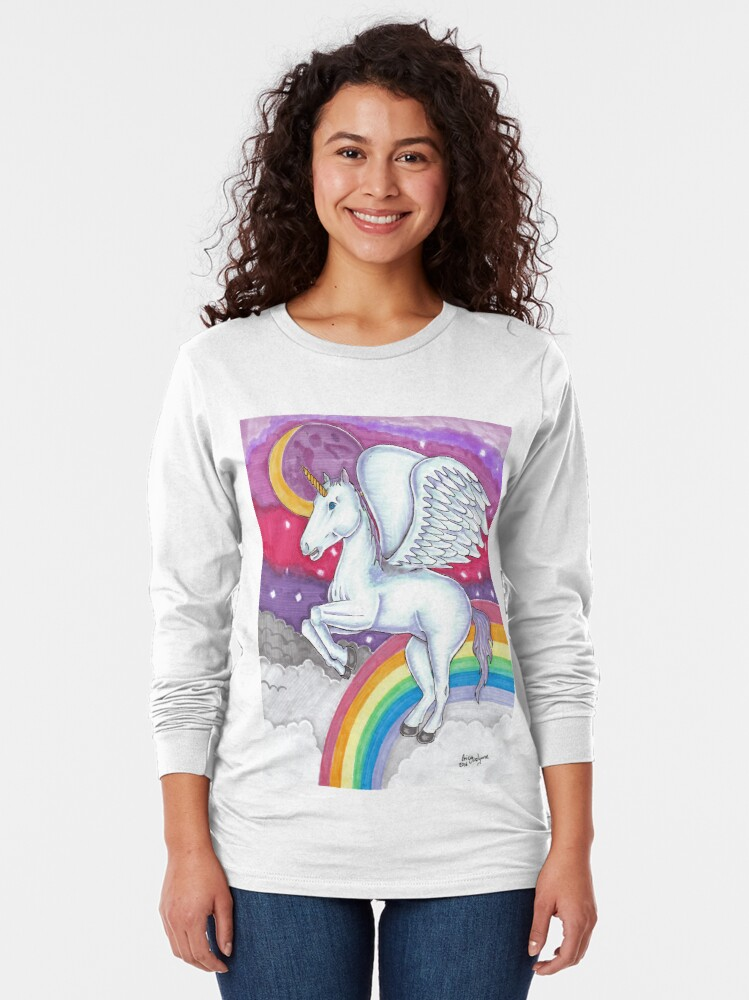 Alternate view of Unicorn Long Sleeve T-Shirt