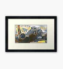 Comics-style B-17 Framed Print