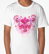 Heart of Orchids Long T-Shirt