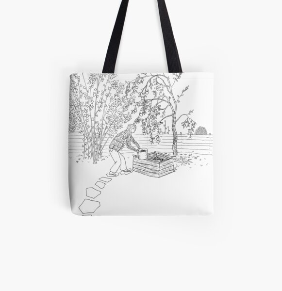 beegarden.works 001 All Over Print Tote Bag