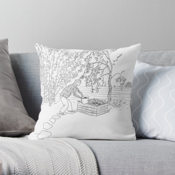 beegarden.works 001 Throw Pillow
